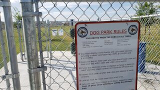 Dog park at Bridle Creek Park