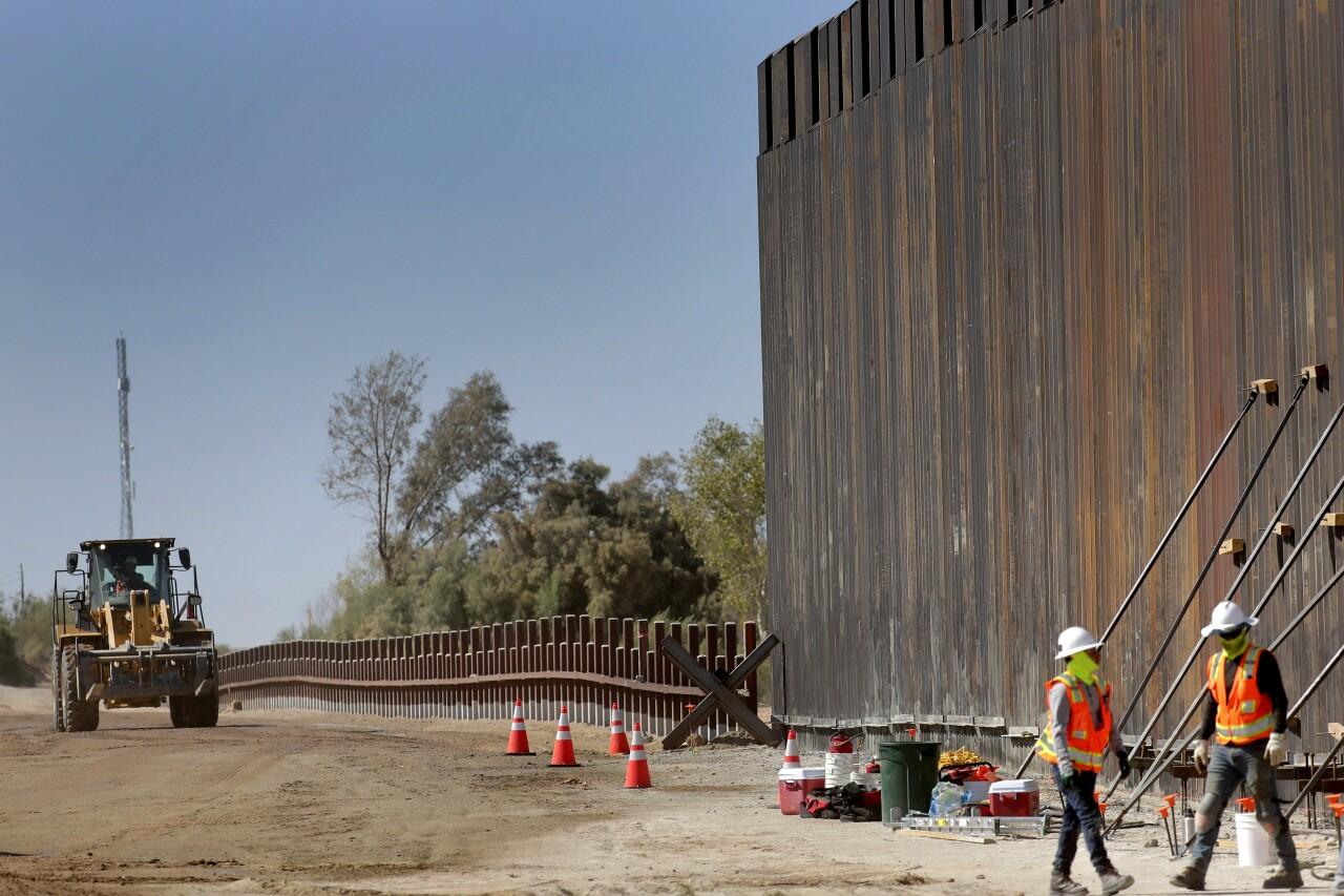 US Border Wall Yuma Construction