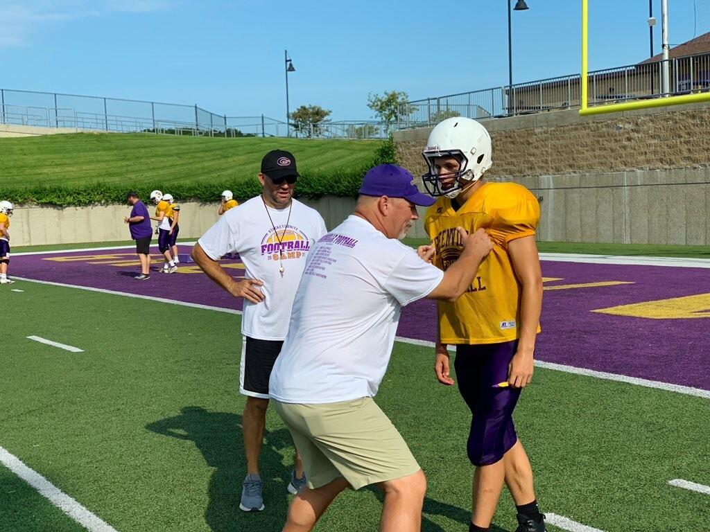 Tom Hallock coaching at Greenville