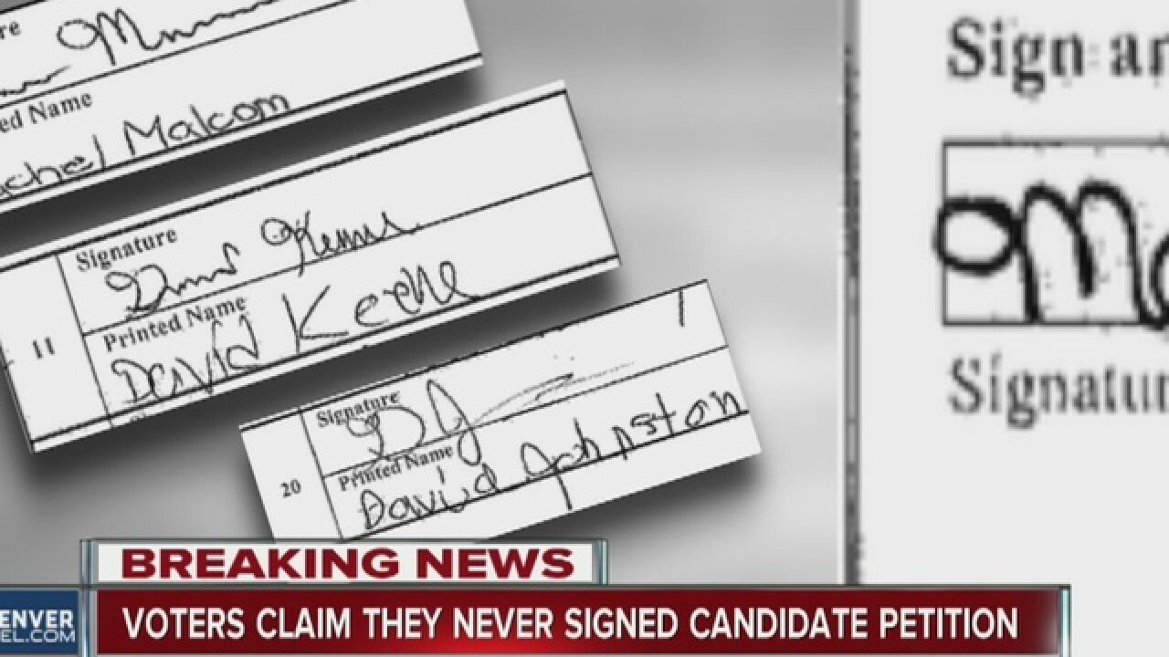 Signature database not used for petitions