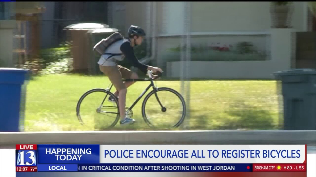Police say the best way to recover your stolen bike is to register it withthem