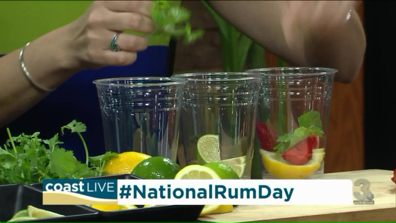 Making Mojitos for National Rum Day on Coast Live