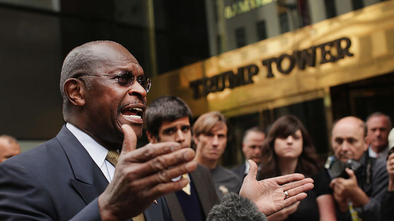 Trump says he's recommending Herman Cain to Fed