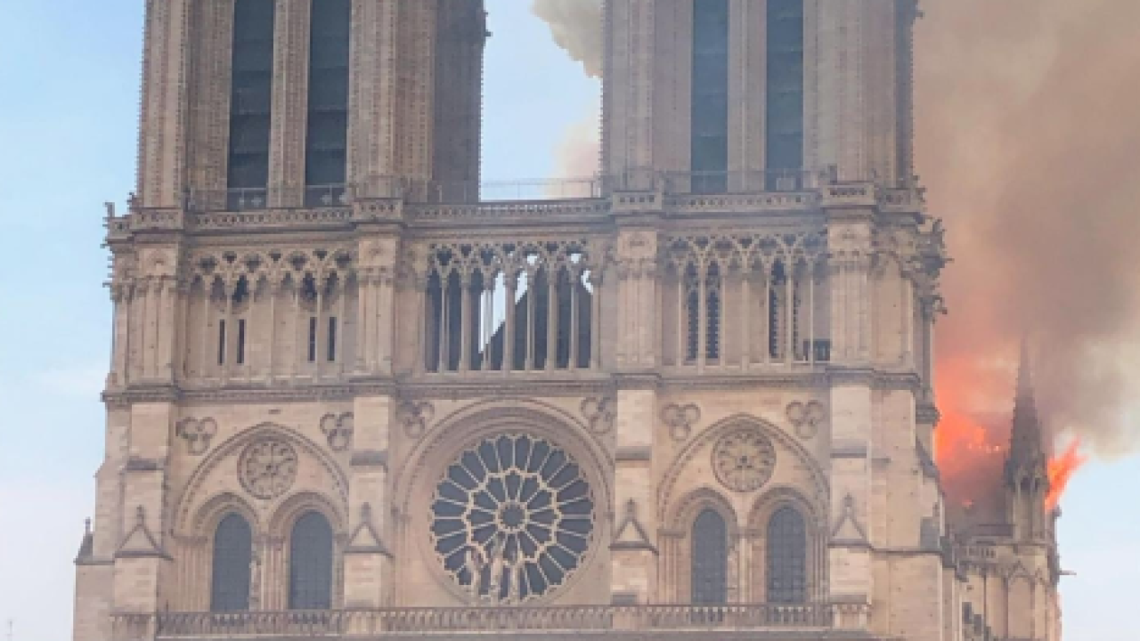 Local Students Inside Notre Dame Cathedral Hours Before Fire