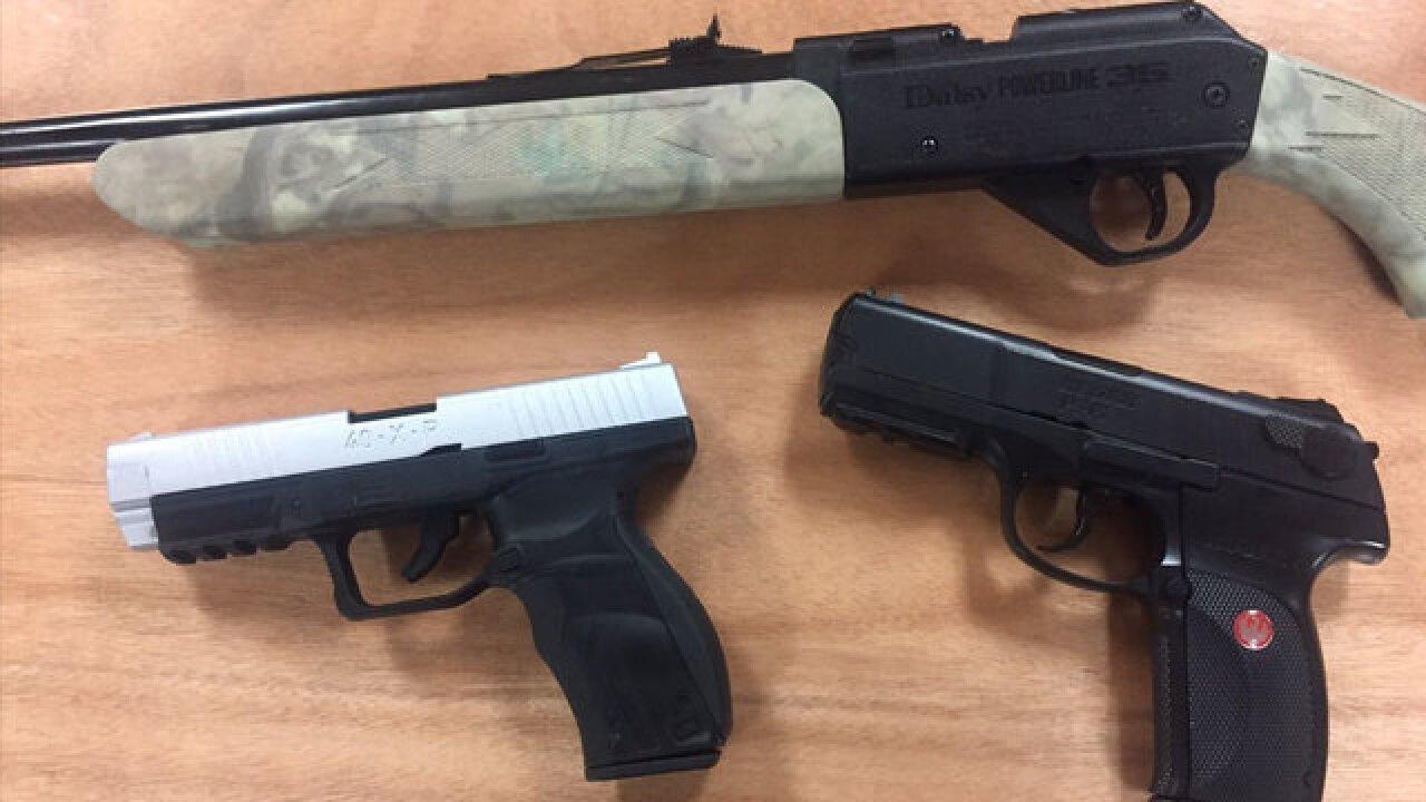 teens accused of shooting cars with pellet guns