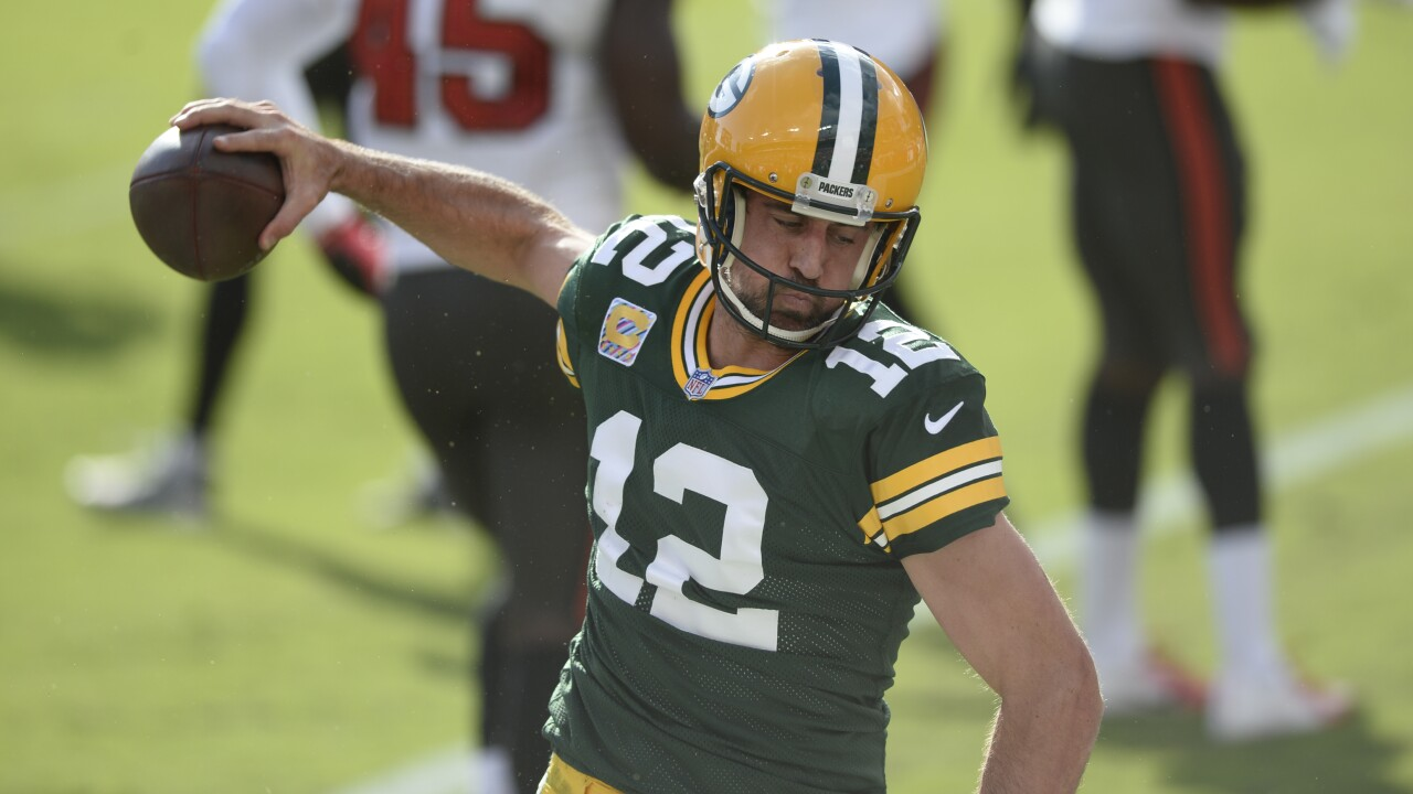 Aaron Rodgers gives nod to 'Key & Peele' during would-be touchdown celebration Sunday