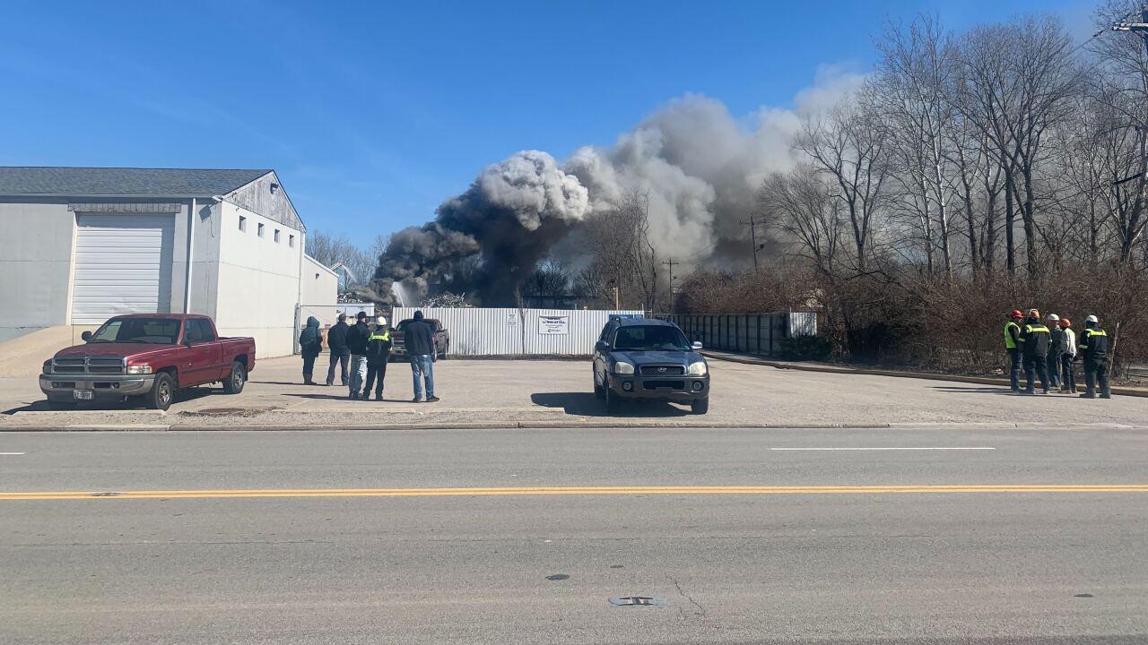 Recycling center fire
