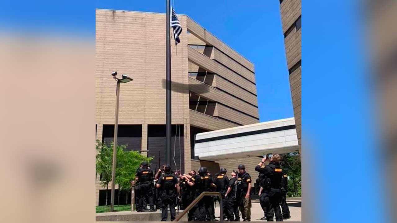 Sheriff: Deputies flew 'thin blue line' flag outside of Cincinnati jail amid protests