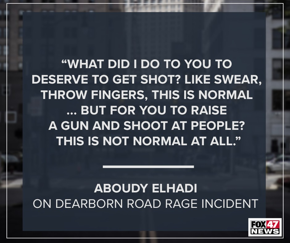 Aboudy Elhadi, on Dearborn Rage Incident