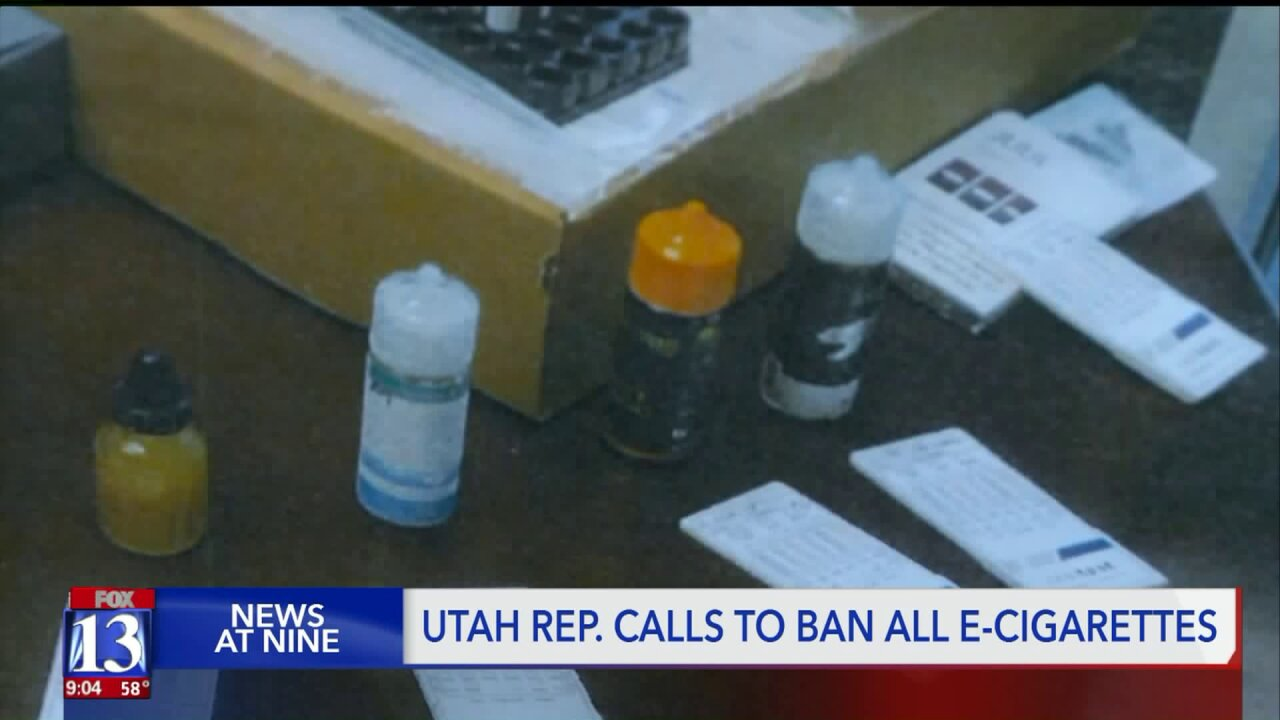 Utah representative pushes to ban e-cigarette products, claiming study found illegal drugs ine-liquids