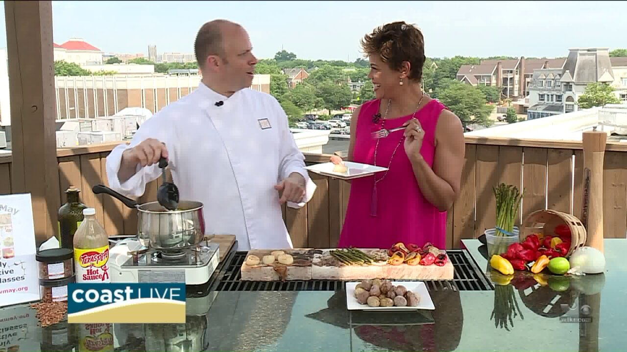 Chef Matthew May grills up sizzling and salted summer favorites on Coast Live