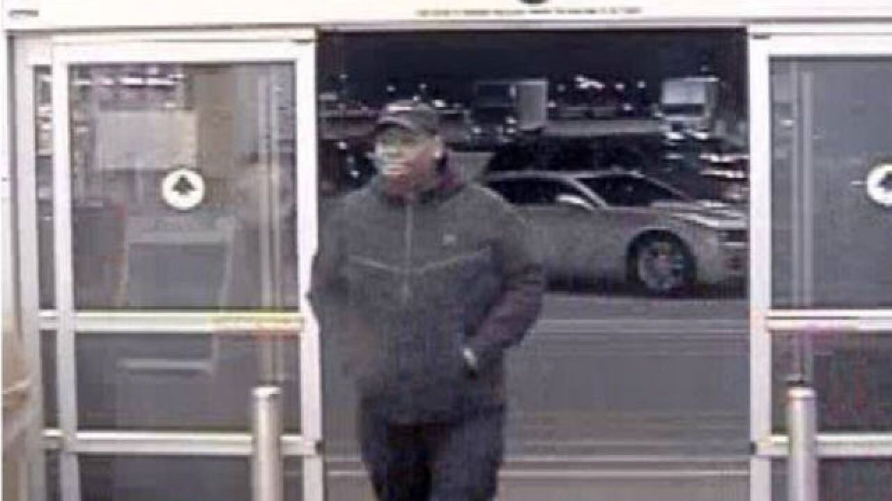 Greenfield PD seek man accused of stealing cash from Walmart