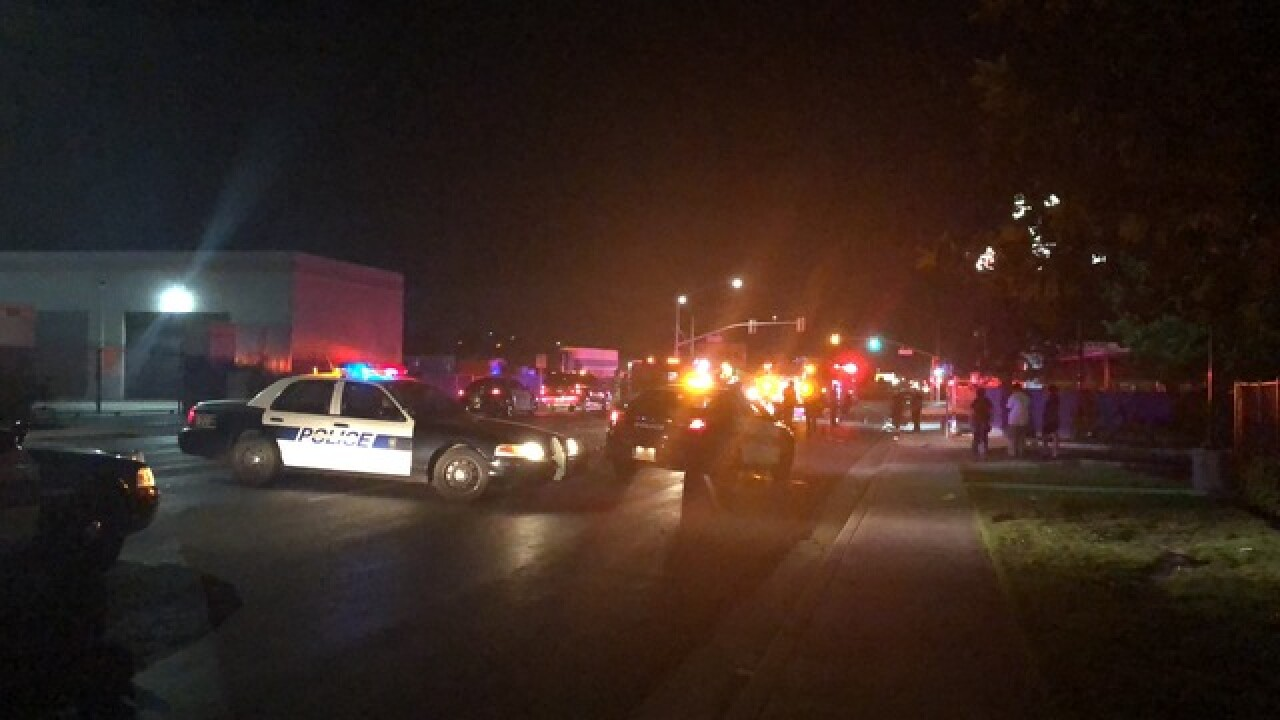 Pedestrian hit by car in Central Bakersfield