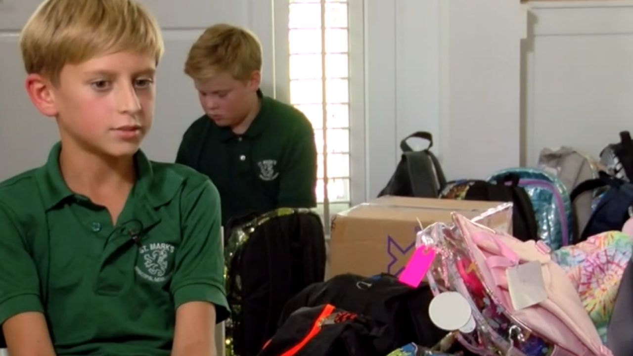 11-year-old boy gathering, donating backpacks for Hurricane Dorian victims in the Bahamas