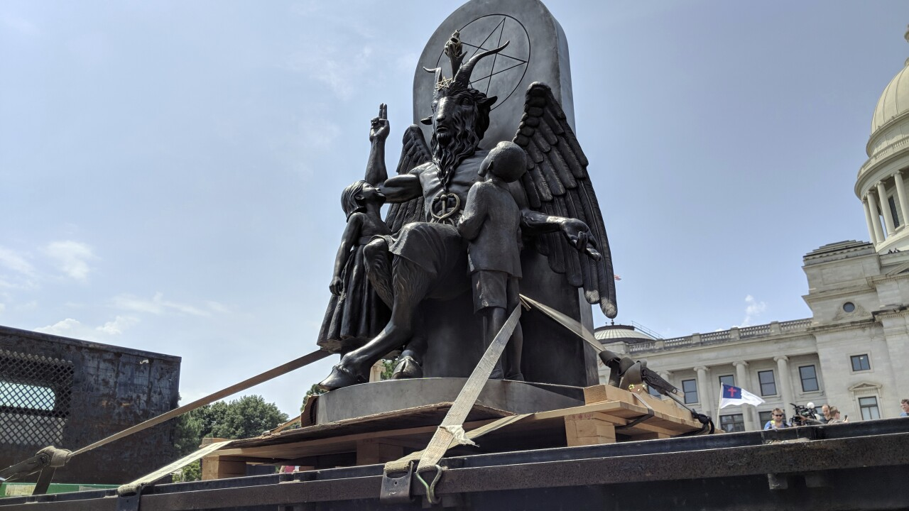 Satanic Temple sues company that rejected group's billboards about 'religious abortion ritual'