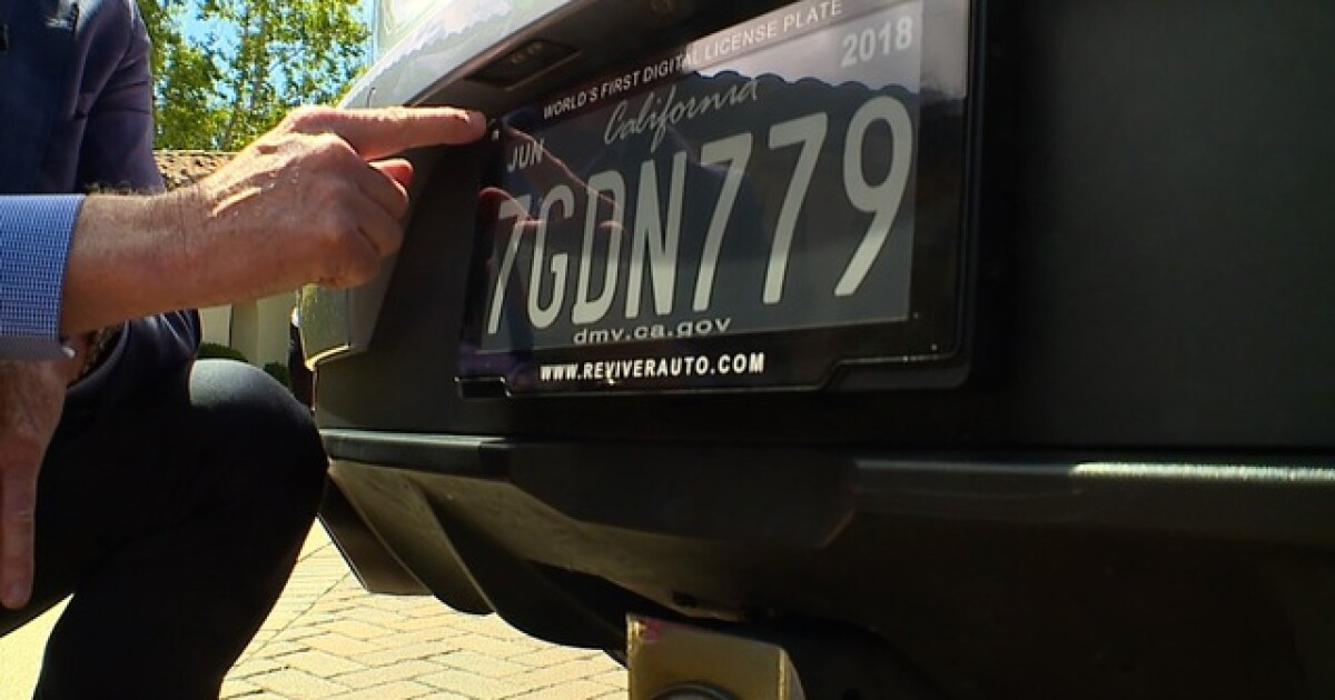 Smart license plates hitting California roads