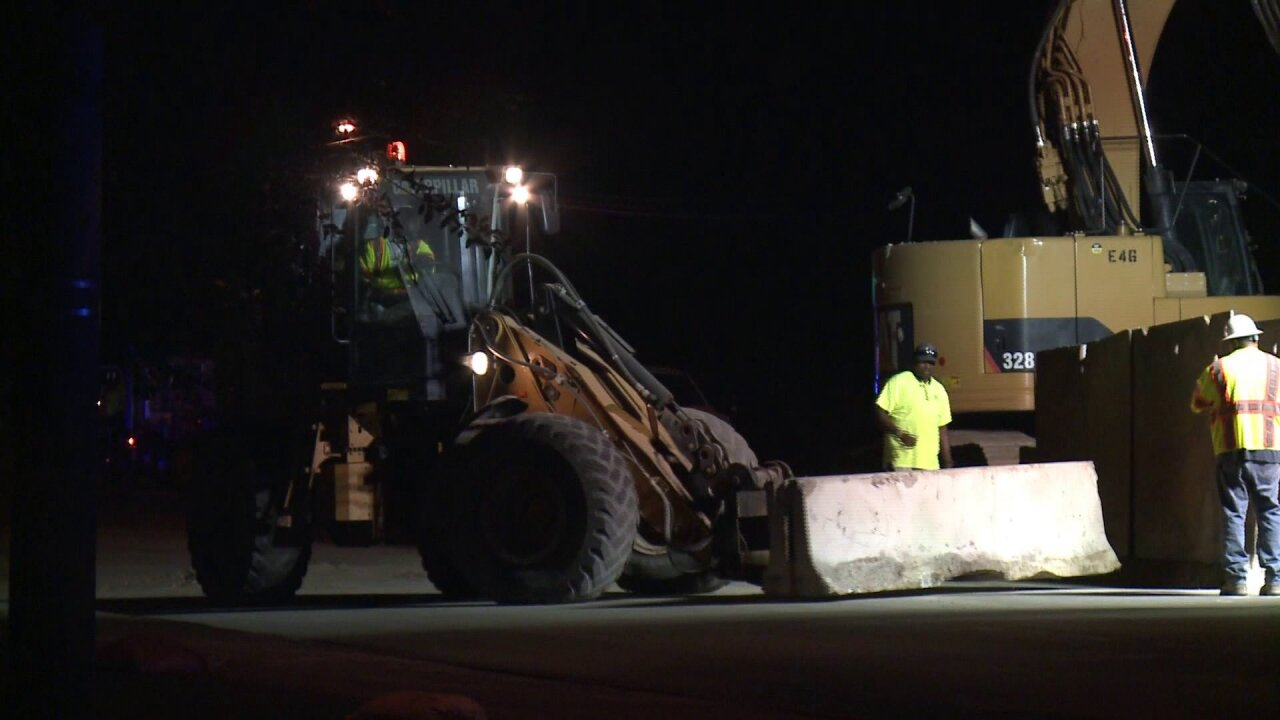 Some lanes open after road in Chesapeake closed due to sewer mainleak