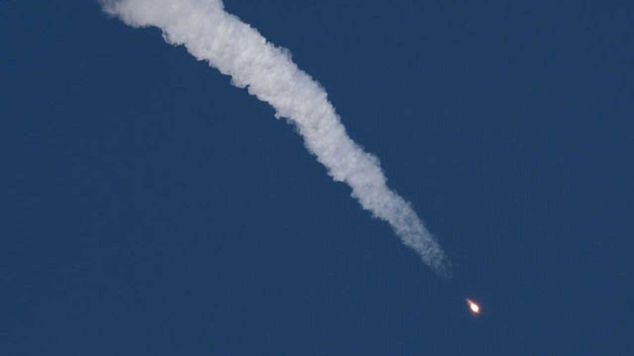 Rocket carrying a NASA astronaut makes emergency landing