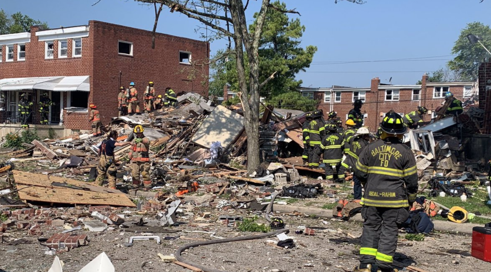 One dead, others rescued after explosion demolishes homes in NW Baltim