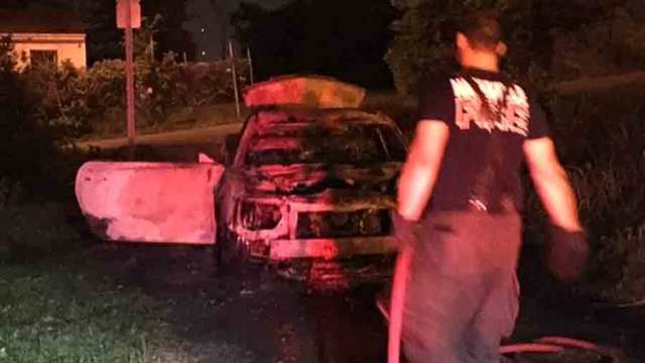Car Goes Up In Flames On Ligon Avenue