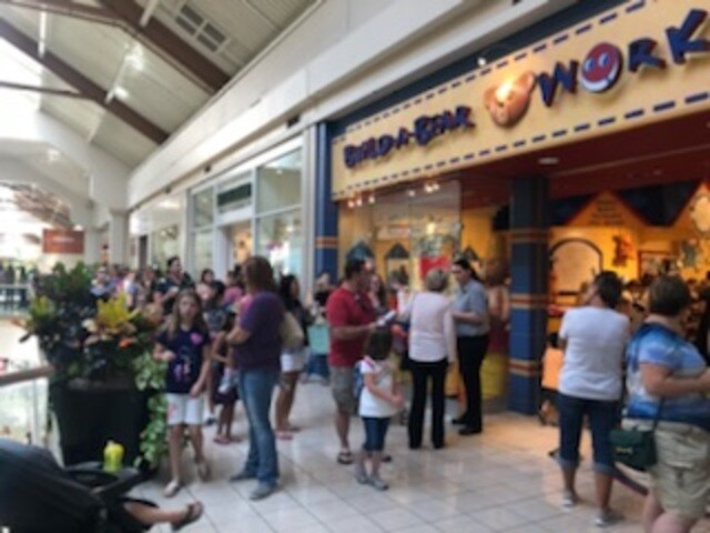 PHOTOS: Build-A-Bear Workshop forced to end 'Pay Your Age' promotion due to overcrowding
