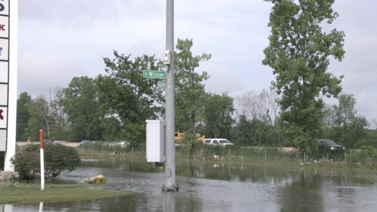 Flooding at Wisner and Boardman on Aug. 12, 2021