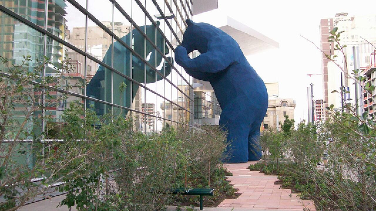 Lawrence Argent Artist Behind Denver S Big Blue Bear Dies