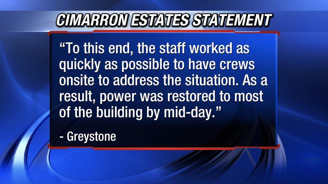 Cimarron Estates statement