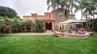 Palm trees and privacy at Point Loma home