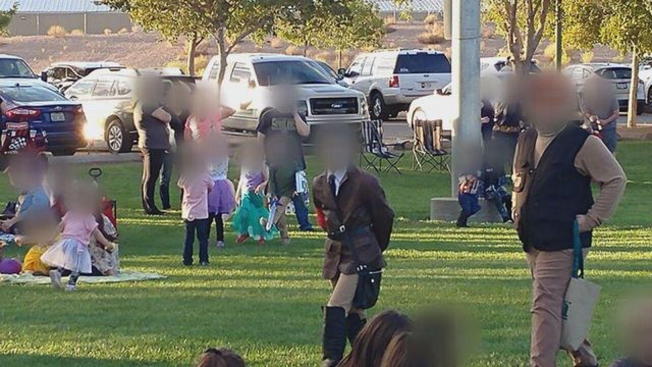 Boy dresses in Nazi costume in Las Vegas