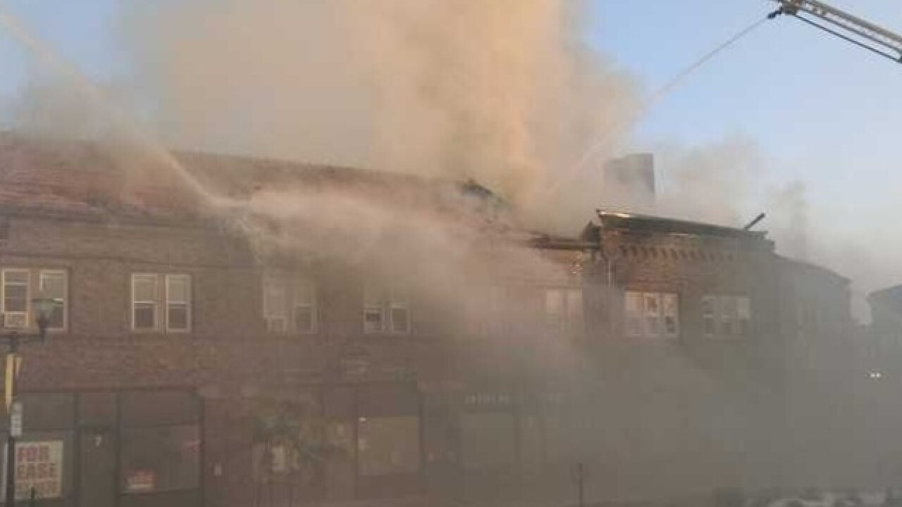 Firefighters responding to fire in Menasha