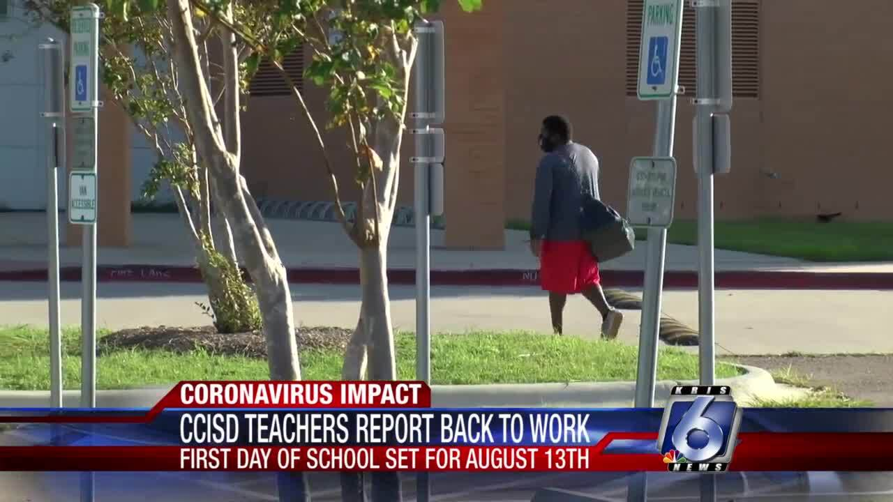 CCISD teachers report back to class on Monday