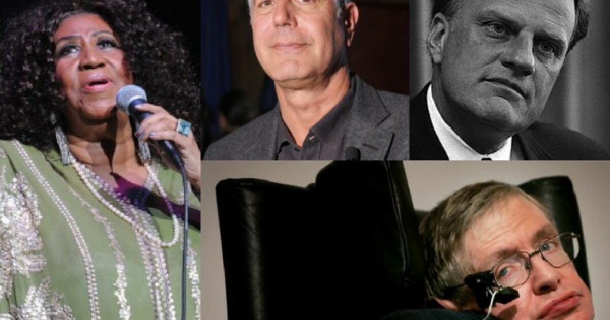 Celebrity Deaths Of 2018 Remembering Those We Ve Lost This Year So when a celebrity dies, it's natural to feel some kind of loss. celebrity deaths of 2018 remembering