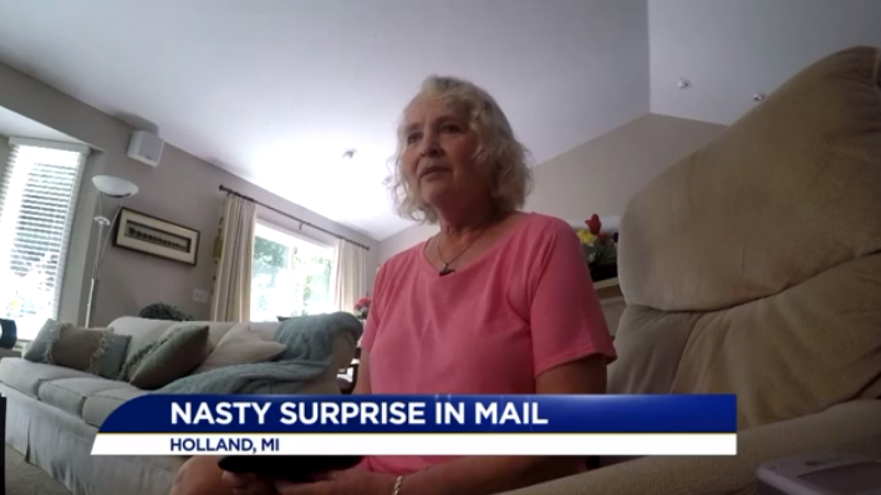 Michigan homeowner receives mailed 'nasty surprise'