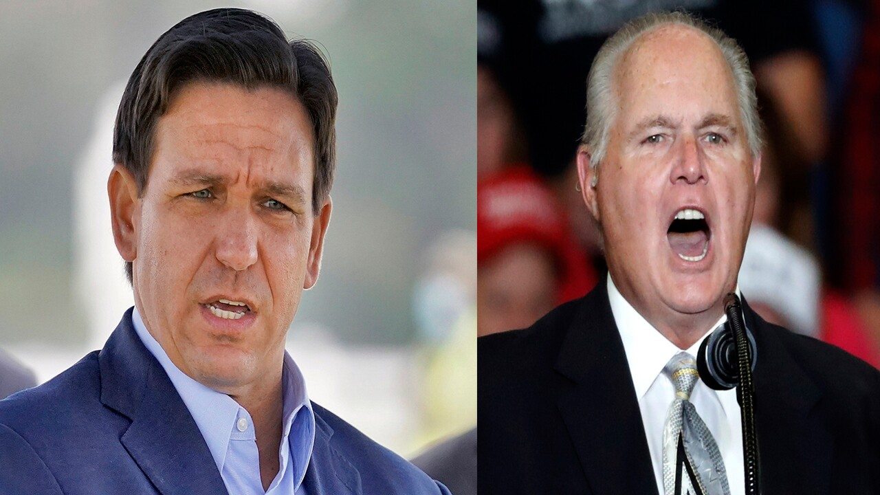 Gov. Ron DeSantis and Rush Limbaugh