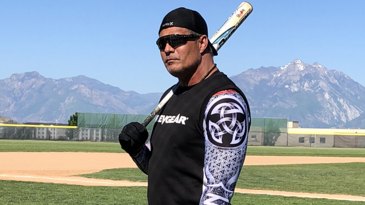 Jose Canseco helps raise funds for Herriman High
