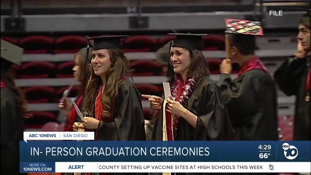 Universities to hold in-person graduation ceremonies