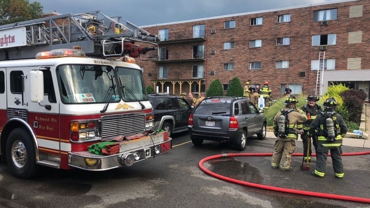 Richmond Heights pulls evacuation order after fire-damaged complex