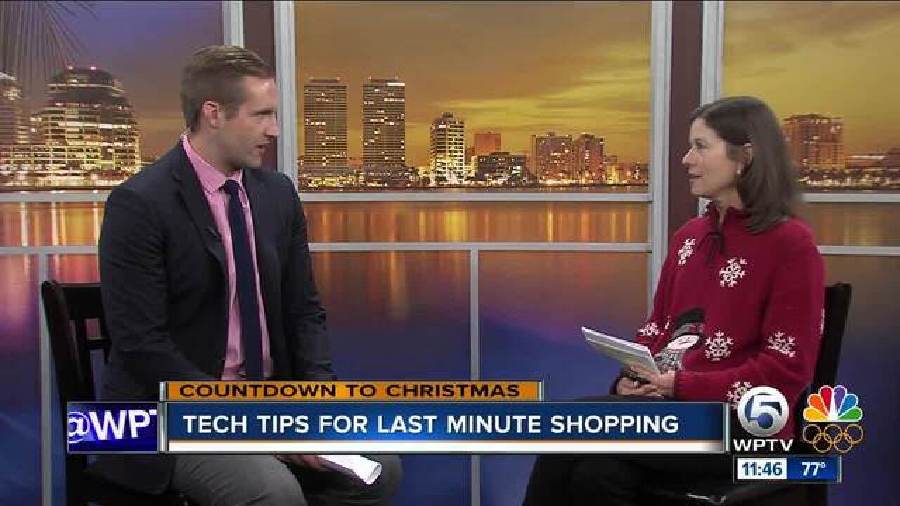 Tech tips to help you with last-minute shopping