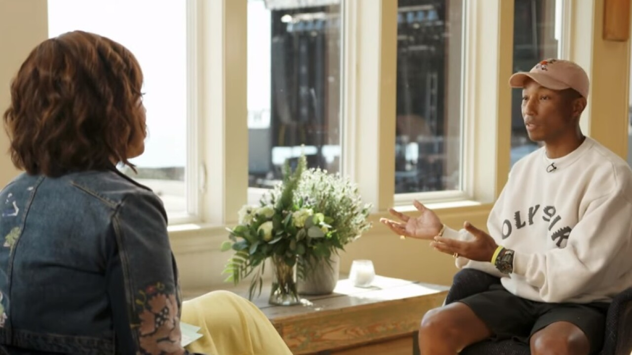 Pharrell Williams gives Gayle King inside look at Something in the Water festival