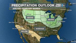 United States precipitation outl