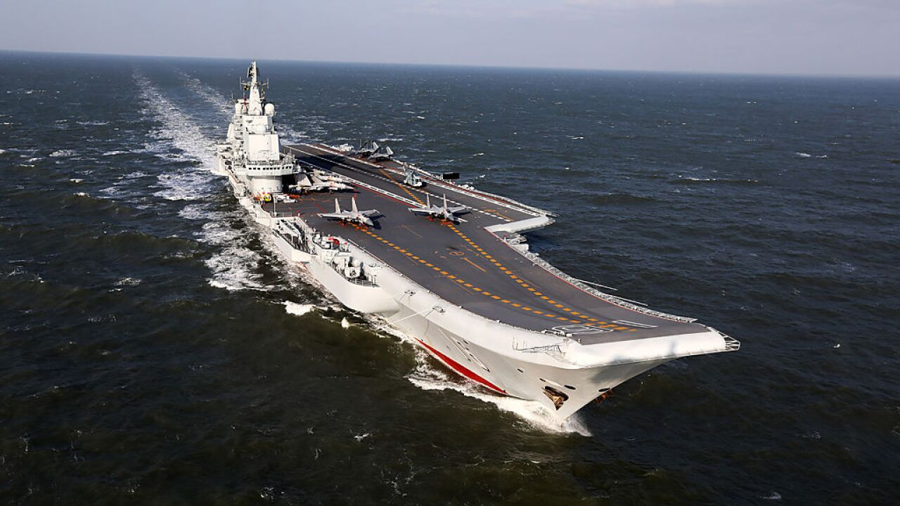 China launches its first homegrown aircraft carrier