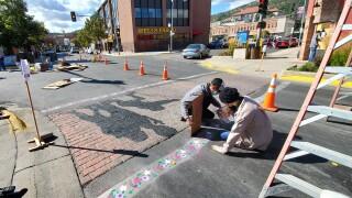 Sidewalk Art Mural