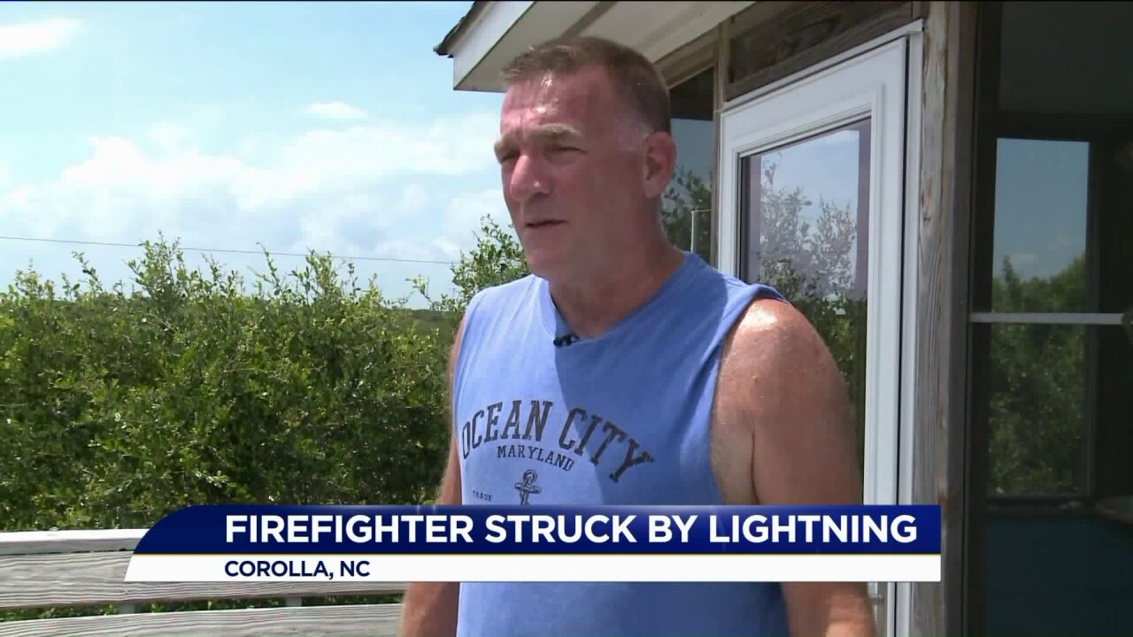 Two men struck by lightning on Outer Banks recover after being released fromhospital
