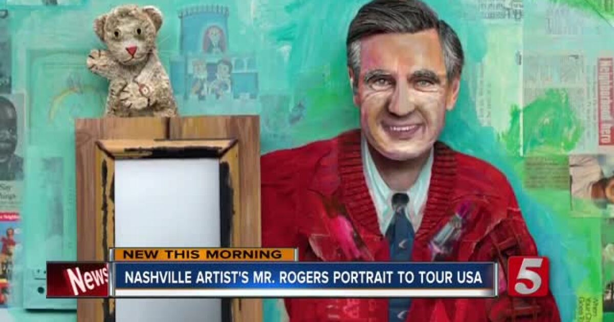 Nashville Artist Creates Mister Rogers Portrait With Items From The Fred Rogers Archive And Wife