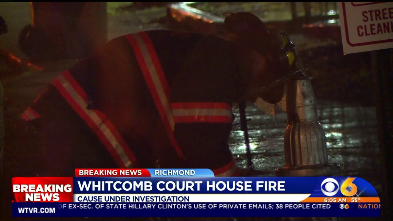 Whitcomb Court fire under investigation