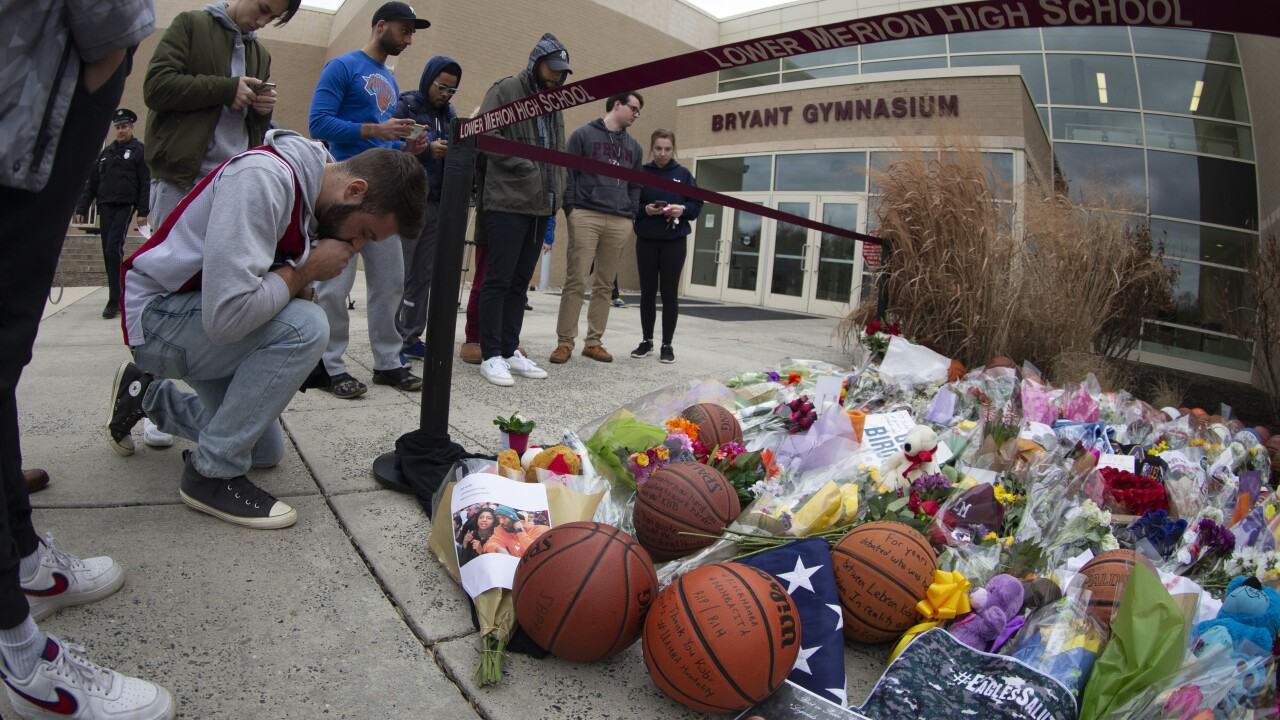 Kobe Bryant Fans Pay Their Respects At Lower Merion High School