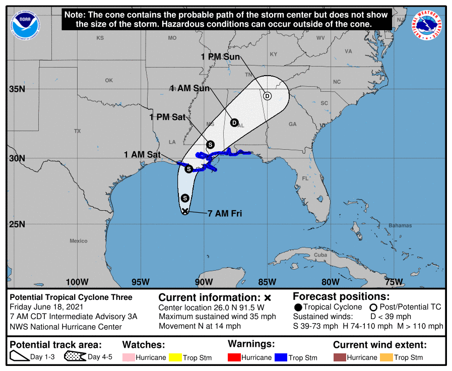 Developing Tropical Storm