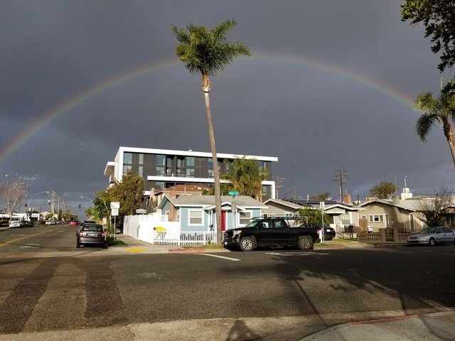 Rainbows, snow from San Diego's winter storm