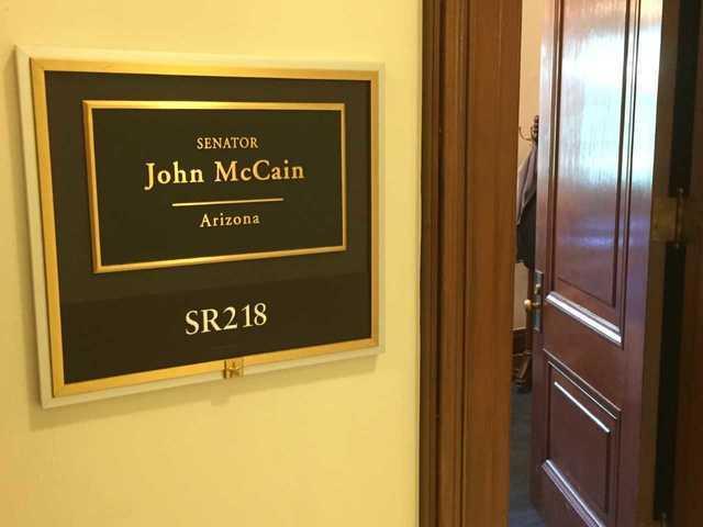 Inside Senator McCain's office at the Russell Senate Building